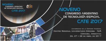 CONGRESO ARGENTINO DE TECNOLOGÍA ESPACIAL CATE 2017