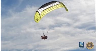 Imagen ilustrativa de paracaídas en vuelo