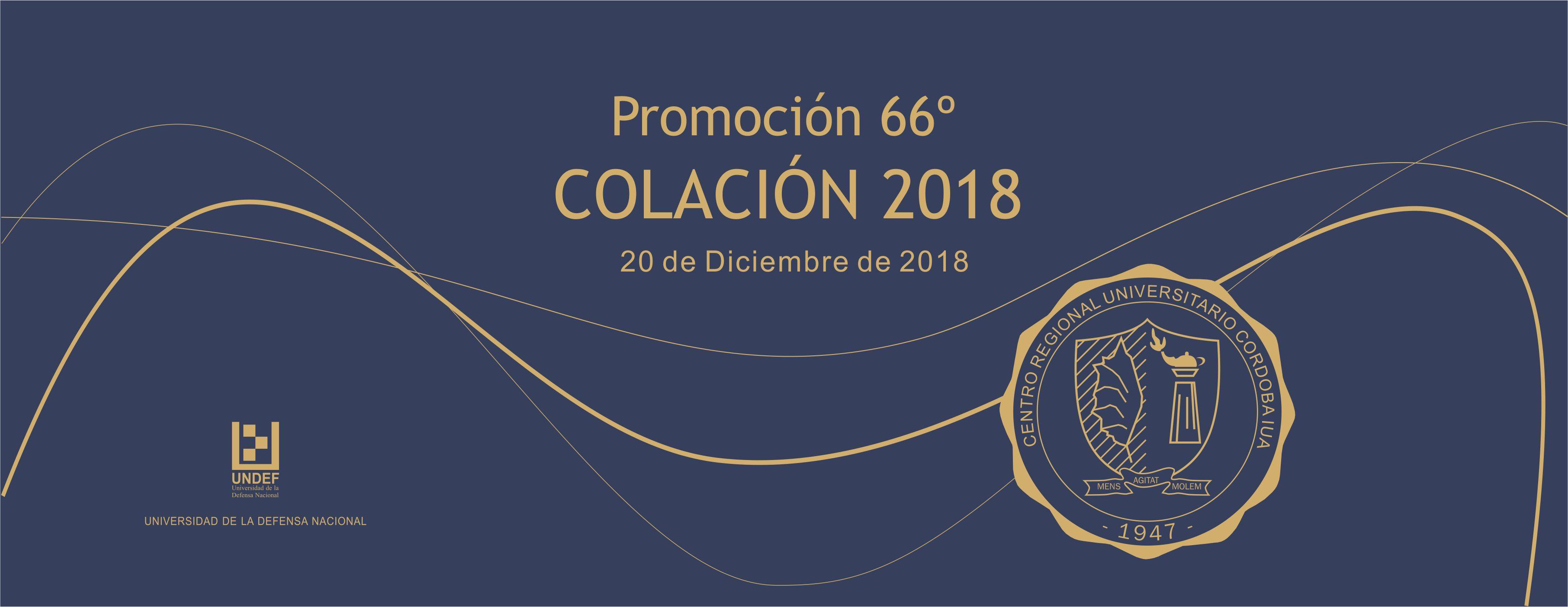 Colación de Grado Diciembre 2018 – Promoción 66º