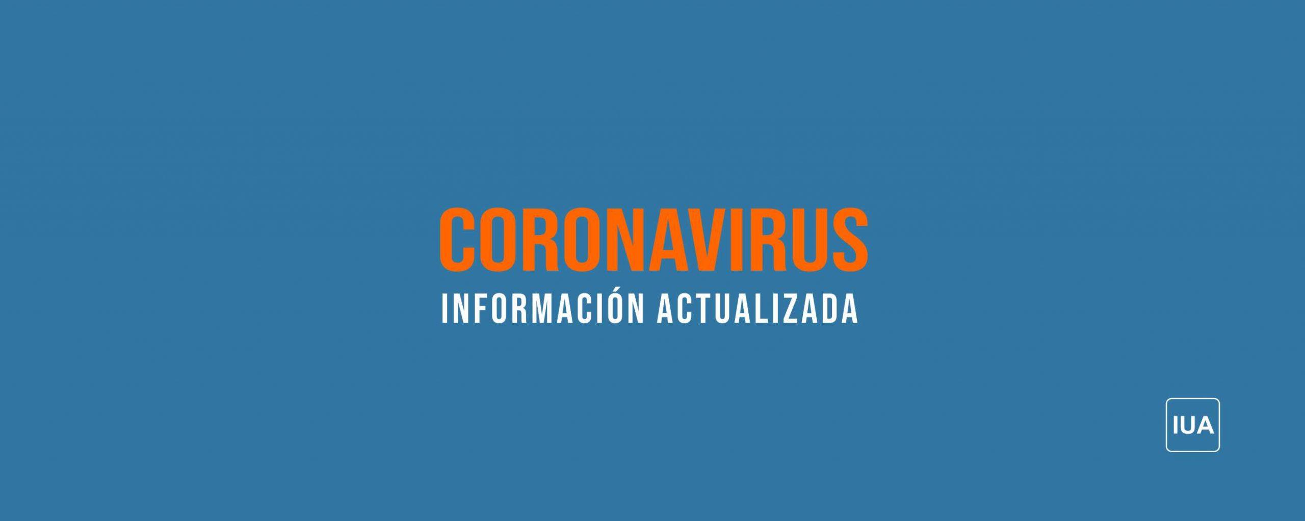 Coronavirus (COVID-19) – Extensión de la suspensión de actividades presenciales